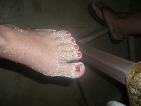Newly peticured feet
