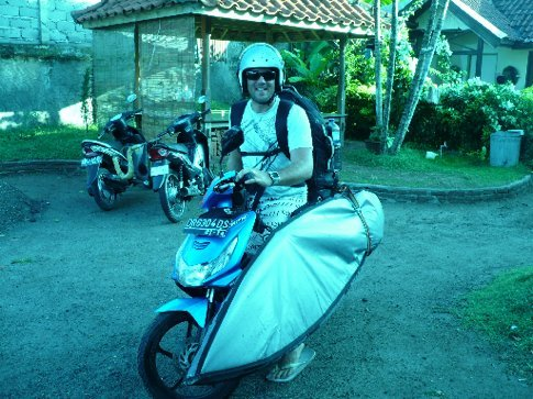 Me and Mile's, all loaded up for the trip to the Sumbawa/Lombok ferry