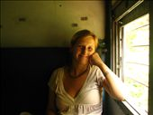 Micaela on the train from Panjim to Palolem (south Goa): by jessica, Views[278]