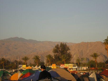 Coachella campsite