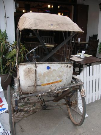a not so clean cycle rickshaw