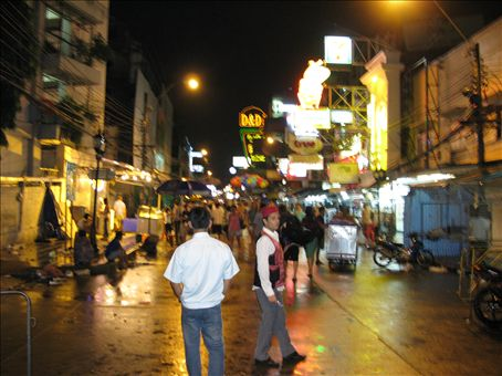 Khao San Road (main backpackers' street)