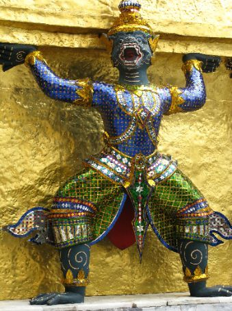 Close-up of figurine in Grand Palace