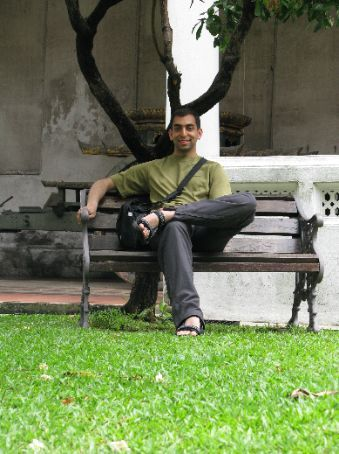 Me sitting in the grounds of the National Museum of Thailand