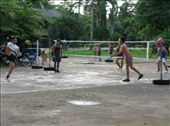 A group of police officers playing a variation of volleyball, using anything except hands. Thai people are supposedly very good at this game.: by jfernandes, Views[186]