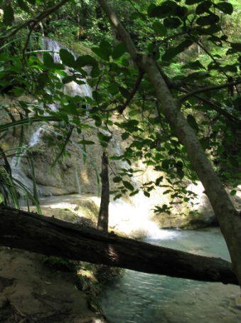 Step 6 of the Erawan Waterfalls.