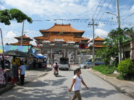 The Chinese temple opposite Nonthaburi market.