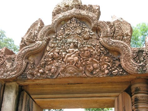 A lintel at Banteay Srei