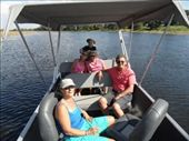 John & Julie's boat...we went with them and joined the birthday party upstream.: by jimboandjanet, Views[464]