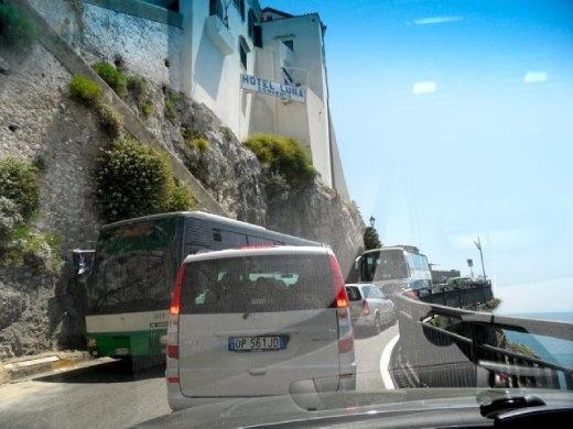 Amalfi traffic...arrghhh....