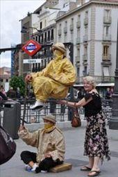 Madrid living statues: by jimboandjanet, Views[664]
