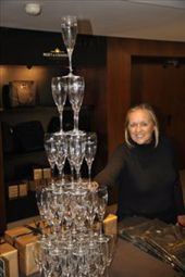 Oh...watch out for the champagne glasses!  At Moet in Epernay: by jimboandjanet, Views[249]