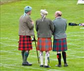 Braemar Highland Games - the cap, the jacket, the kilt, the socks and the dirk tucked in the sock: by jimboandjanet, Views[2123]
