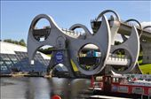 Falkirk Wheel - an invention to lift/drop barges from one canal to another: by jimboandjanet, Views[1261]