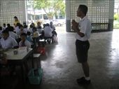 The head of the special needs school leads the children in their pre-lunch prayer: by jlessing, Views[153]