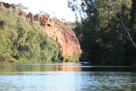 A view from almost water level back up the first gorge