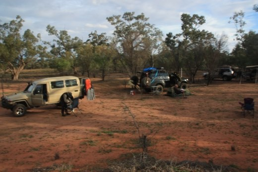Campsite on the Warrego River in QLD