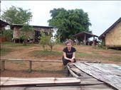 On a dormi dans une case en haut de la montagne dans un tout petit village tribale.  We slept in a little wood house, on top of the mountain, in a tribe village.: by jmoison, Views[221]
