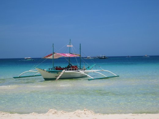 Bangka on the bluest of blue seas!!...