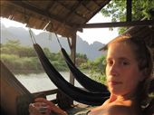 chilling in hammock overlooking river views with beer laos in hand...:): by jo_and_matt, Views[193]