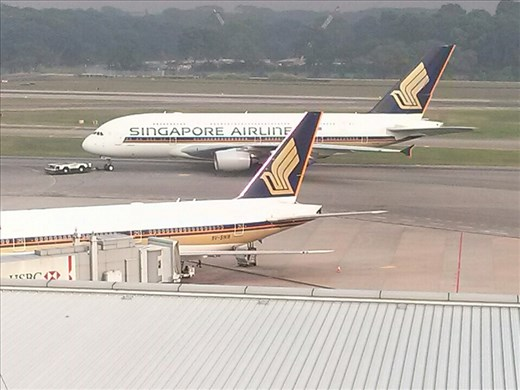 View from Crowne Plaza Hotel, Changi Airport, Singapore.