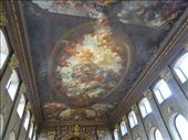 Painted ceiling at Royal Naval College