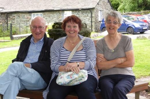 Joan, Alan and Chris in Lake District