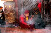 Surrounded by incense and wood smoke at Bodhnath Stupa : by jodiest, Views[153]