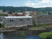 Former factories and the town on Little Falls, NY.  They are trying to make the mills into a craft and shopping area, but not with much success yet.: by johnkeith, Views[962]