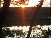 The journey ends with a sunset over Elbow Pond at our home in Brewster, Cape Cod, 54 days after leaving for Oregon: by johnkeith, Views[349]
