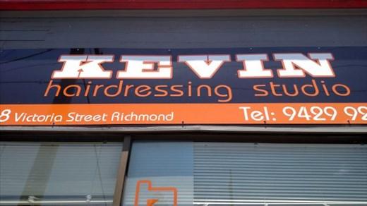 Kevin Hairdressing Sign