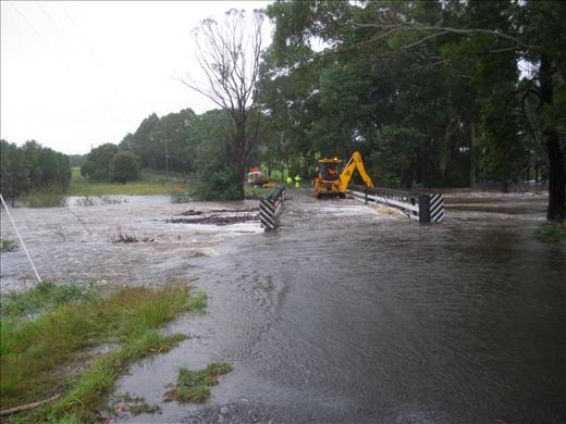Flooded bridge we crossed