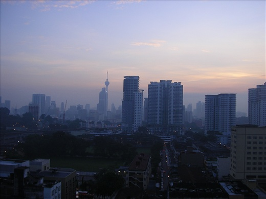 Kuala Lumpur early morning from our hotel window