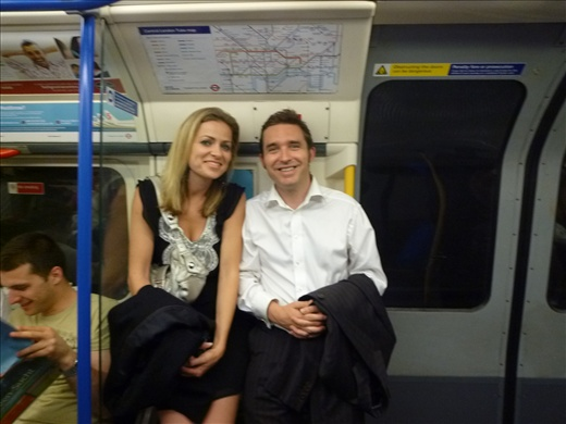 Joel and Angie - tube travelling