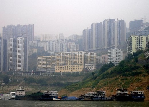New town created on Yangtze River