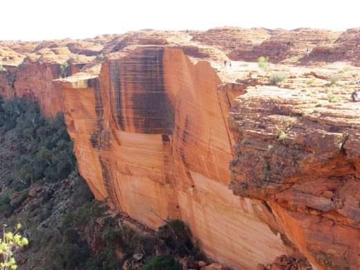 Kings Canyon, group of tourists on other side
