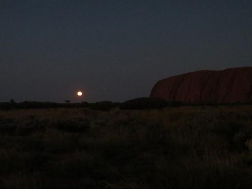 An hour after sunset, Uluru
