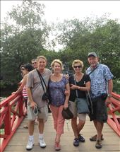 Gay and Bob, Peter and Susan on Red Bridge, Hanoi: by johnsteel, Views[220]