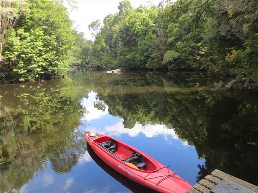 Kayak mooring on the Savage River