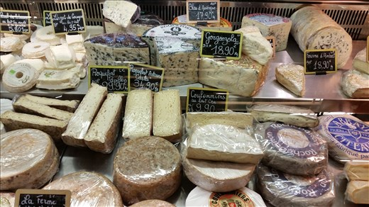 Cheese in market Paris