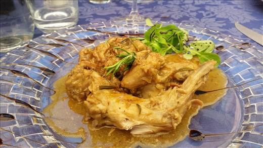Rabbit dish Coccorone Restaurant Umbria