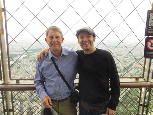 Peter and Joel at the top of the Eiffel Tower Paris