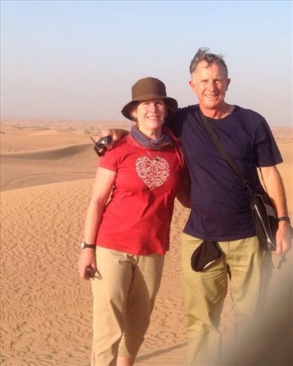 In Dubai desert