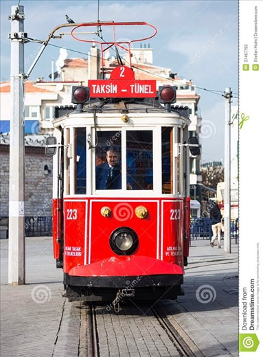The nostalgic tram to Taksim Square