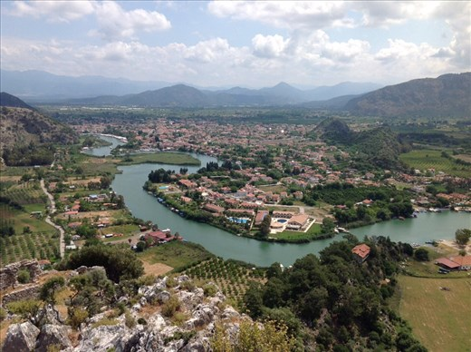 Dalyan from the mountain top