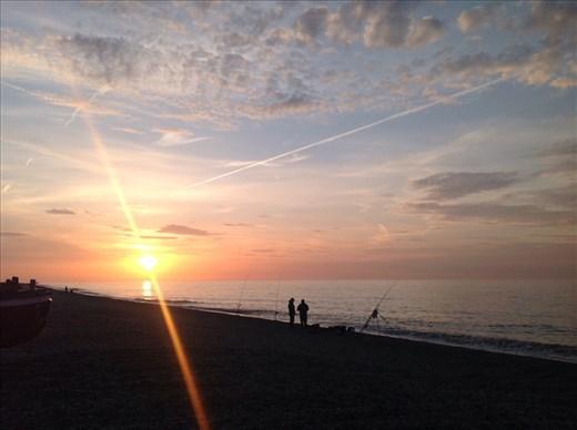 Evening beach near Blakeney, Norfolk