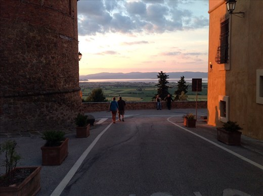 Evening view from Panicale