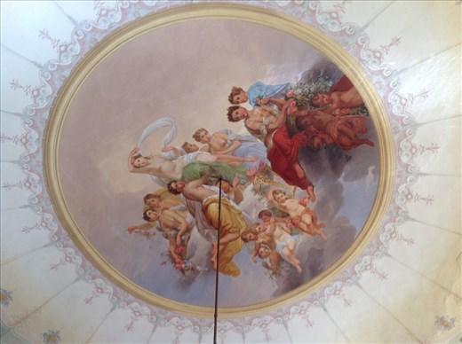 The ceiling, bedroom Villa Lemura