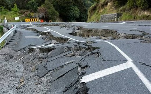 Earthquake damage Kaikoura road