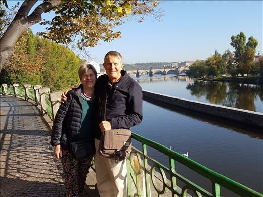 The two of us in Prague